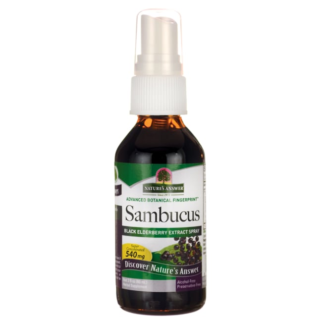 Nature's Answer Sambucus Extract Spray Alcohol Free