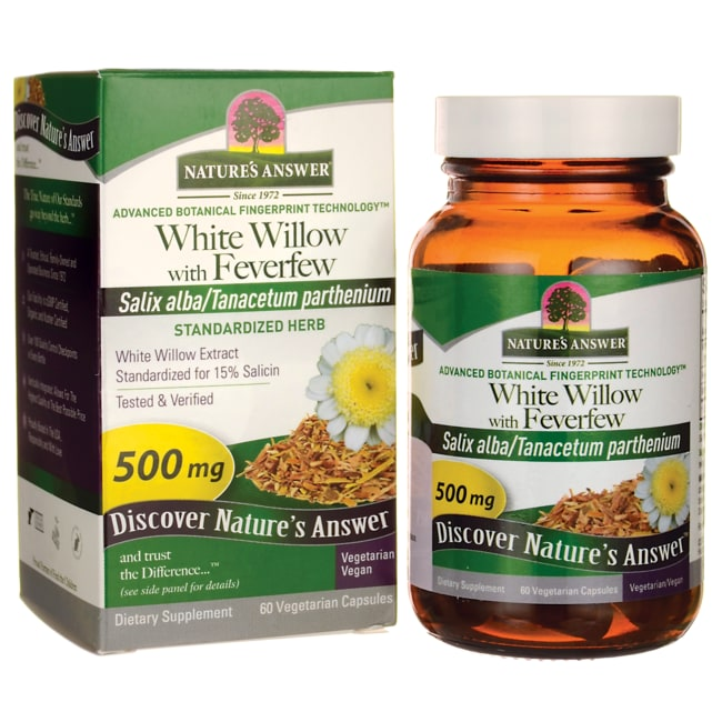 Nature's Answer White Willow with Feverfew