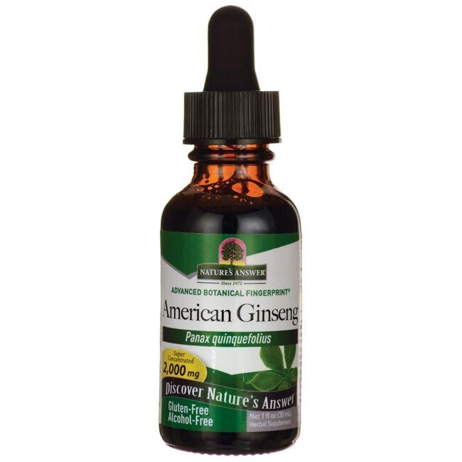 Nature's Answer American Ginseng Alcohol Free