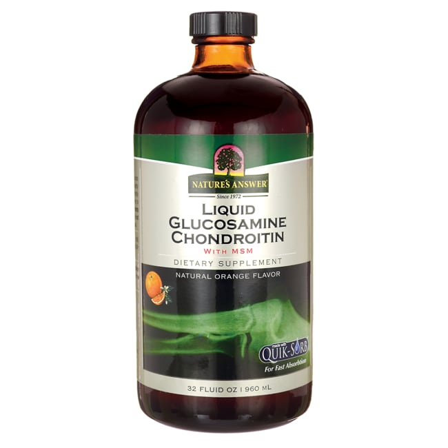 Nature's AnswerLiquid Glucosamine Chondroitin with MSM - Orange