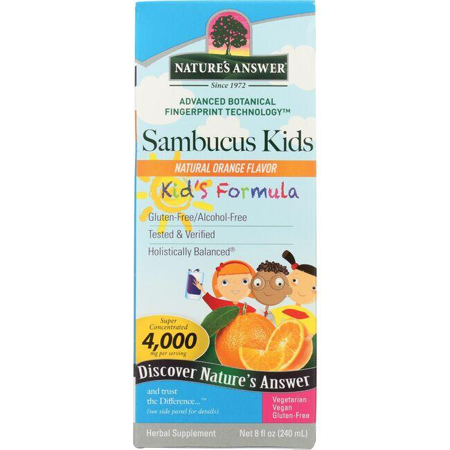 Nature's Answer Sambucus Kid's Formula - Orange Flavor