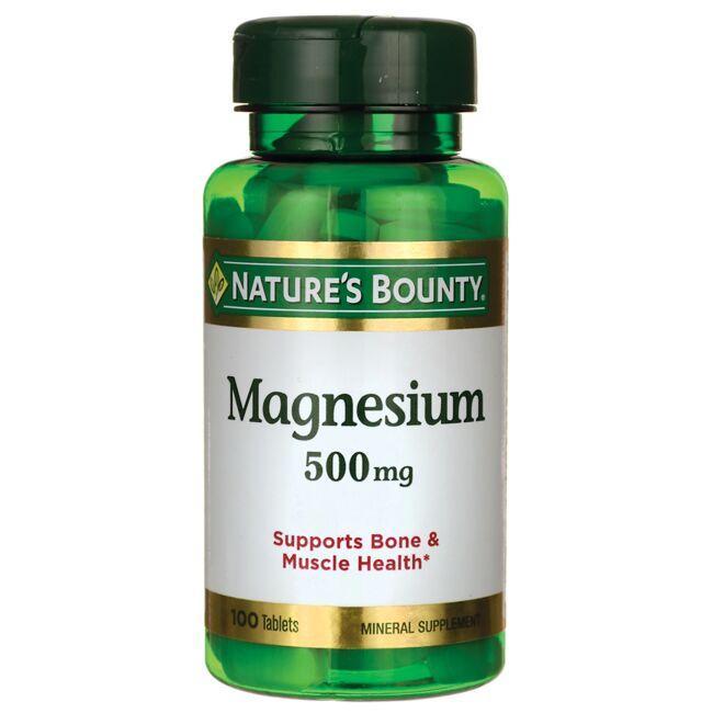 bounty magnesium nature potency mg 500 natures health items swansonvitamins tabs