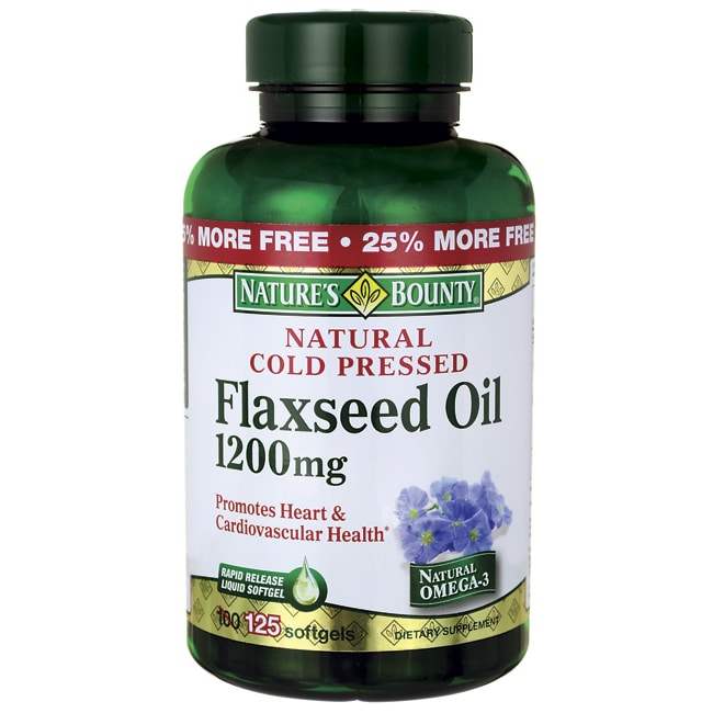 Nature's BountyNatural Cold Pressed Flaxseed Oil