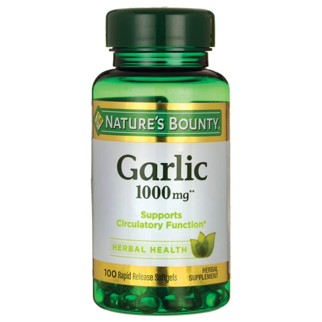 bounty garlic nature odorless natures mg extract 1000 health softgels amazon vitamins supplements swanson release swansonvitamins sgels