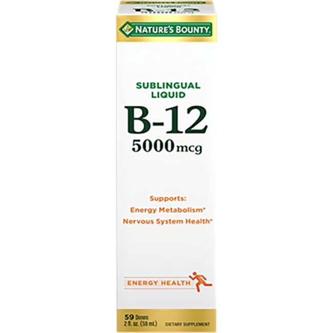Nature's BountySublingual Liquid Super Strength B-12 - Natural Berry Flavor