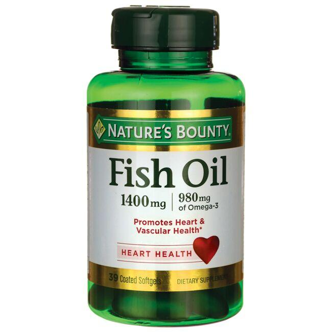 Nature 39 s bounty fish oil 1 400 mg 39 sgels swanson for Nature s bounty fish oil