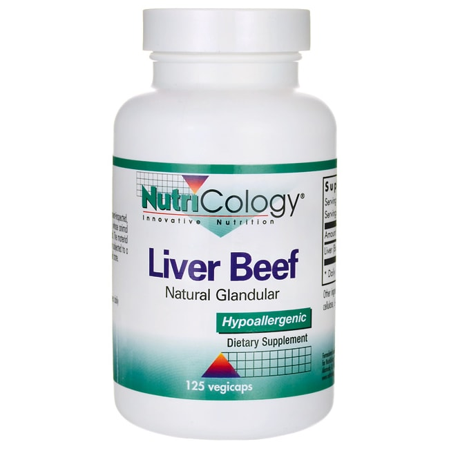 NutriCology Allergy Research Liver Beef Natural Glandular