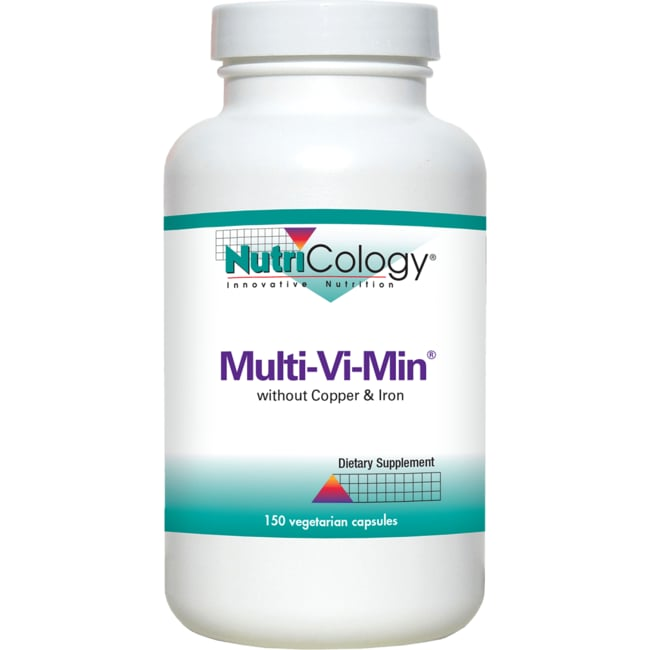 NutriCology Allergy ResearchMulti-Vi-Min without Copper and Iron