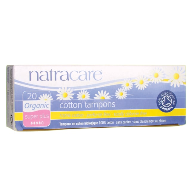 NatracareOrganic Non-Applicator Super Plus Tampon