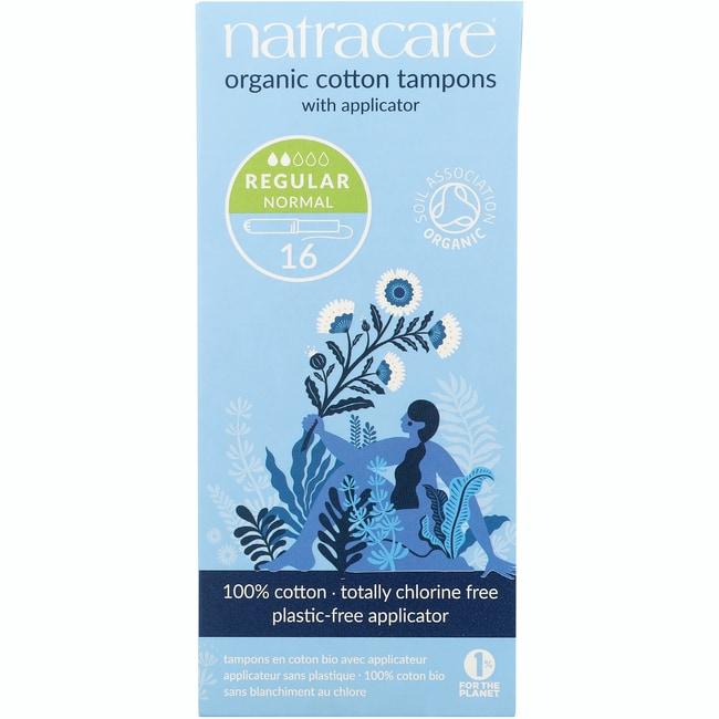 Natracare Organic Applicator Regular Tampons