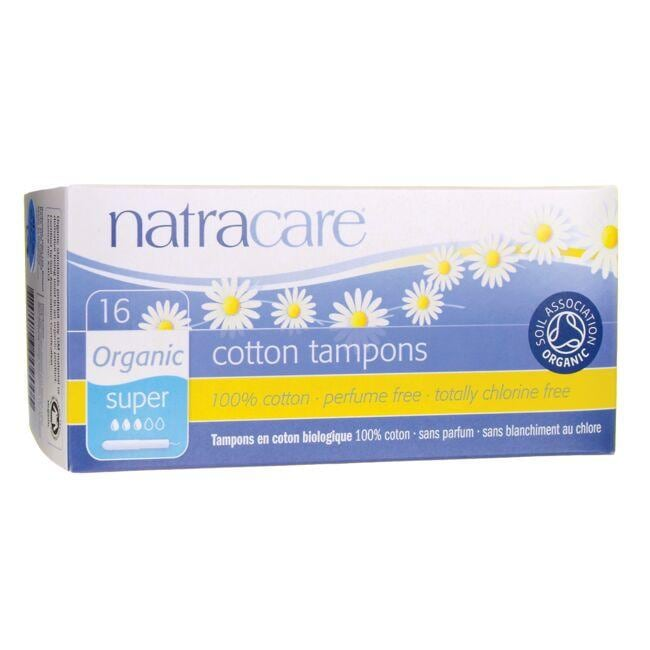 Natracare Organic Cotton Tampons with Applicator - Super