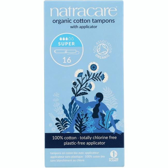 Natracare Organic Applicator Super Tampons
