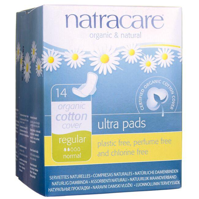 NatracareOrganic Cotton Cover Ultra Pads - Regular
