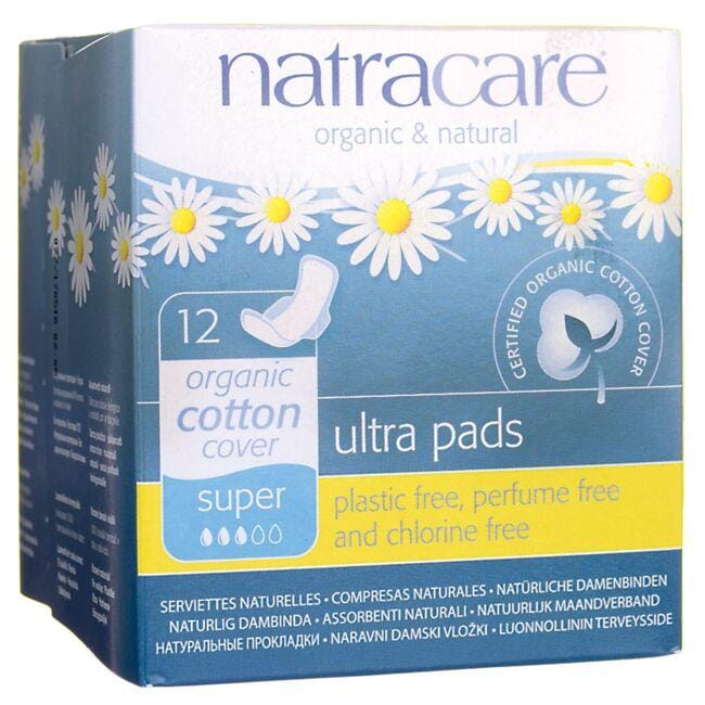 Natracare Organic Cotton Cover Ultra Pads - Super