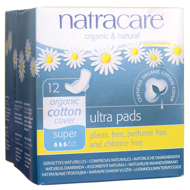 Natracare Natural Pads Ultra with Wings Super