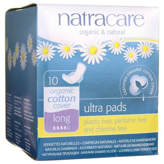 Natracare Organic Cotton Cover Ultra Pads - Long