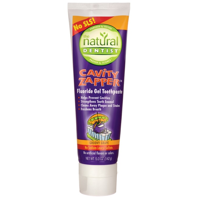 Natural DentistCavity Zapper Fluoride Gel Toothpaste - Groovy Grape
