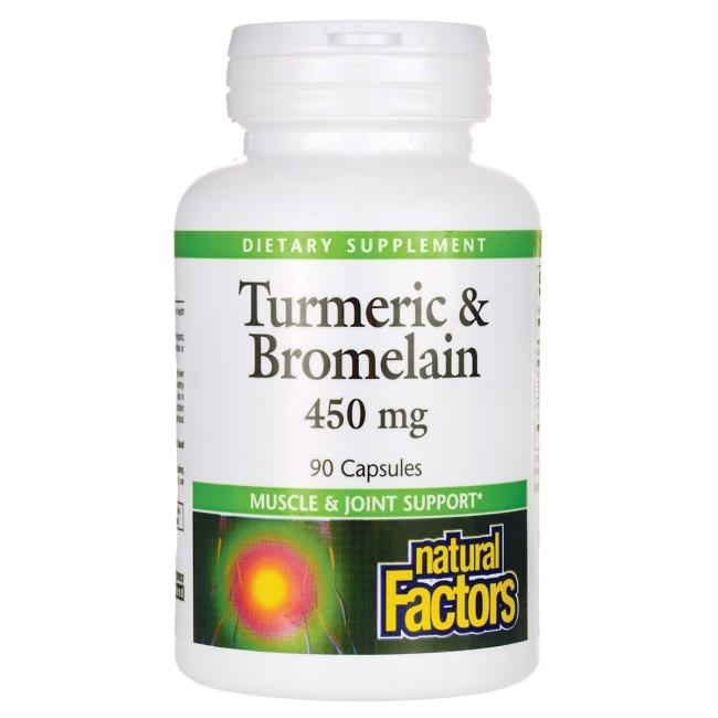 Natural FactorsTurmeric & Bromelain