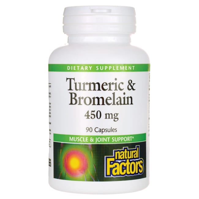 Natural FactorsTurmeric & Bromelain