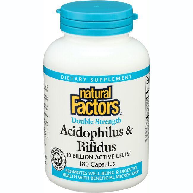 Natural FactorsDouble Strength Acidophilus & Bifidus