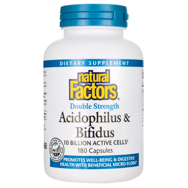 Natural Factors Double Strength Acidophilus & Bifidus