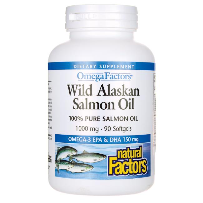 Natural factors wild alaskan salmon oil 1 000 mg 90 sgels for Wild alaskan fish oil