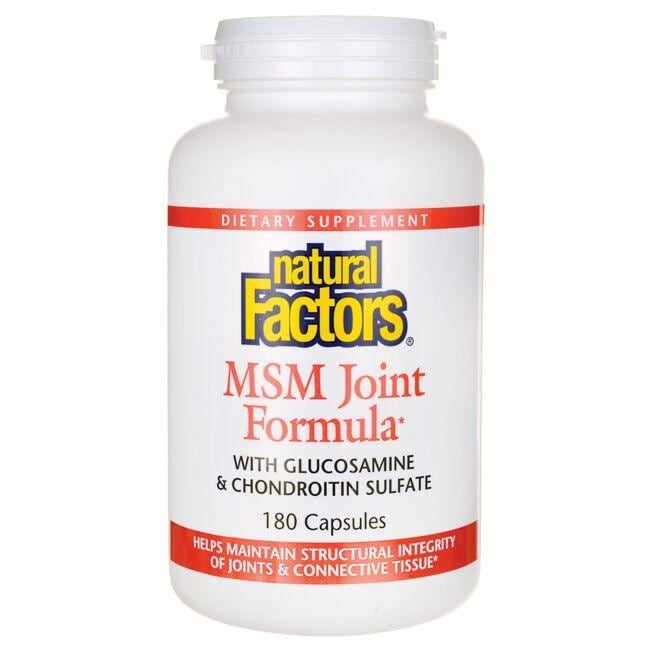 Natural Factors MSM Joint Formula with Glucosamine & Chondroitin Sulfate
