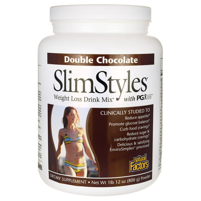 Natural FactorsSlimStyles Meal Replacement with PGX Double Chocolate