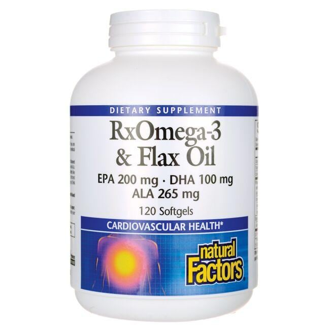 Natural Factors RxOmega-3 & Flax Oil