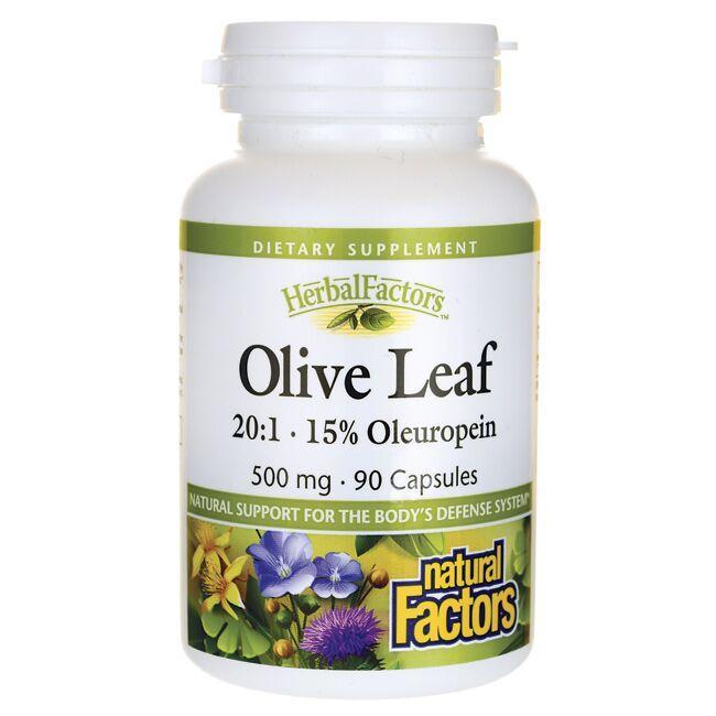 Natural FactorsOlive Leaf 20:1 - 15% Oleuropein