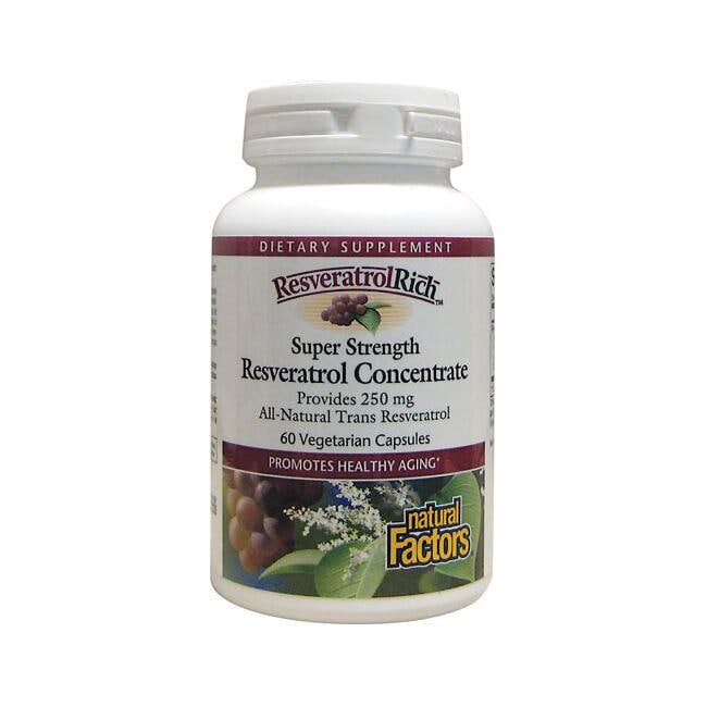 Natural Factors ResveratrolRich Super Strength Resveratrol Concentrate