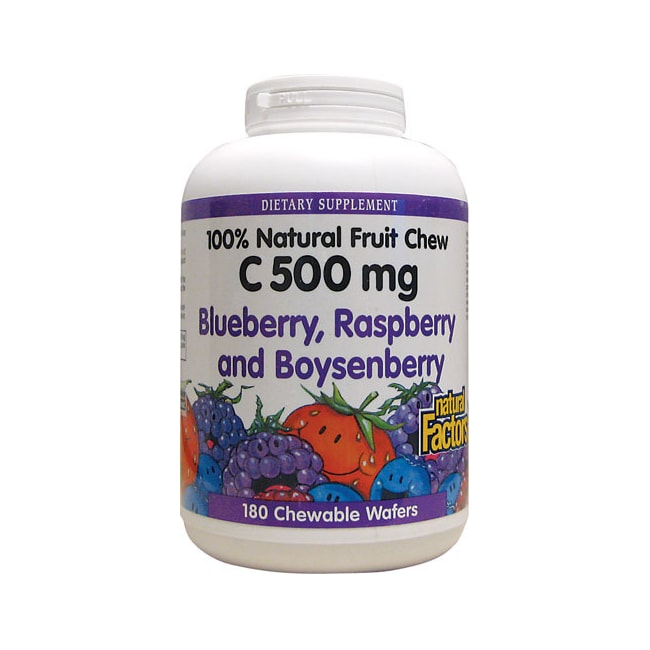 Natural Factors Vitamin C Blueberry, Raspberry & Boysenberry Chewables