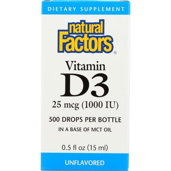 Natural FactorsVitamin D3 Drops - Unflavored