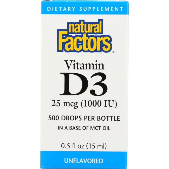 Natural FactorsVitamin D3 Drops