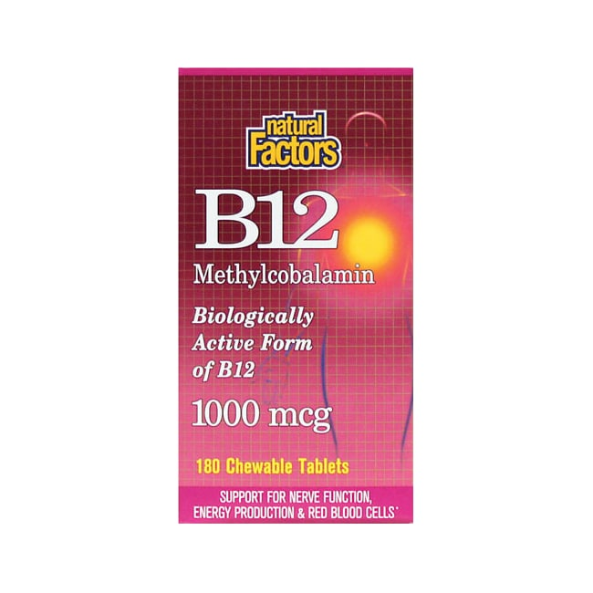 Natural FactorsB12 Methylcobalamin