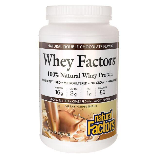 Natural Factors Whey Factors Natural Double Chocolate Flavor