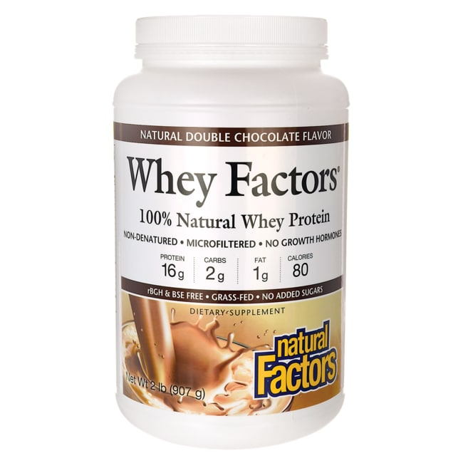 Natural Factors Whey Factors Natural Double Chocolate Flavor