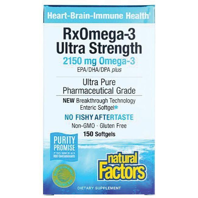 Natural FactorsUltra Strength RxOmega-3 Pharmaceutical Grade Fish Oil