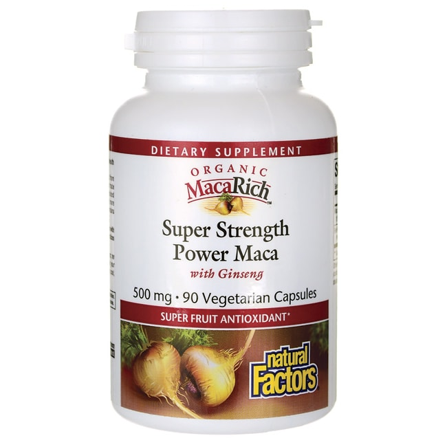 Natural FactorsSuper Strength Power Maca with Ginseng