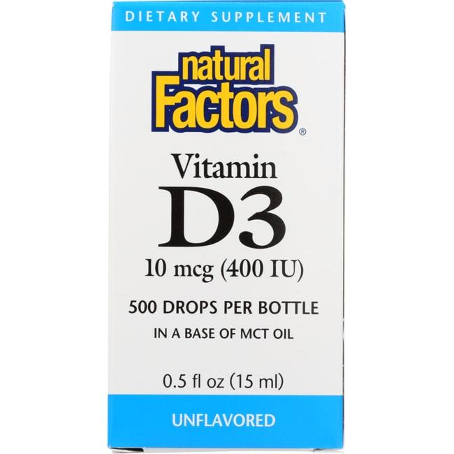 Natural Factors Vitamin D3 Drops for Kids