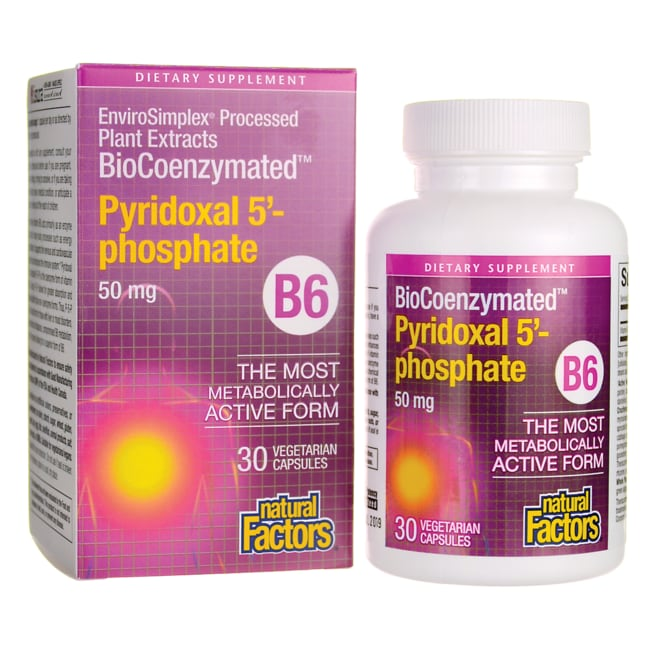Natural FactorsBioCoenzymated Pyridoxal 5'-phospahte B6