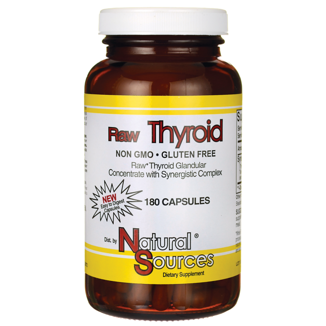 Natural SourcesRaw Thyroid