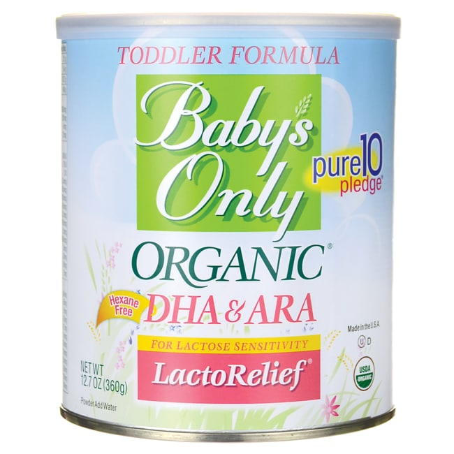 Nature's OneBaby's Only Organic DHA & ARA LactoRelief - Toddler Formula