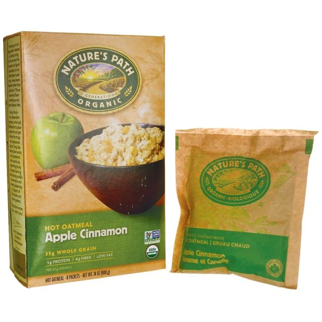 Nature's Path Organic Instant Hot Oatmeal Apple Cinnamon