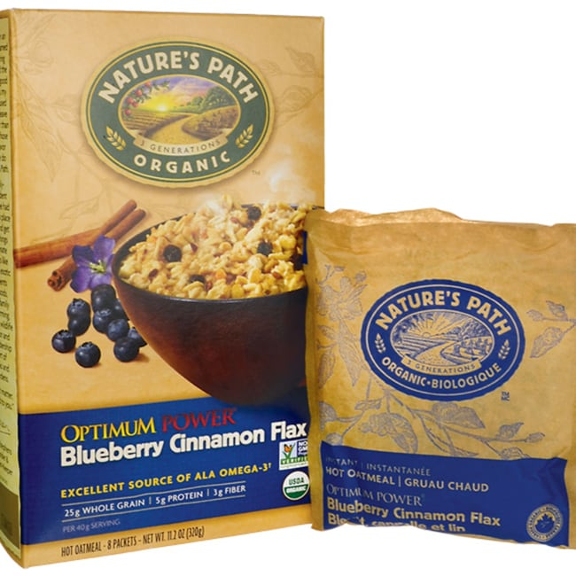 Nature's PathOrganic Instant Hot Oatmeal Cinnamon Blueberry Flaxseed