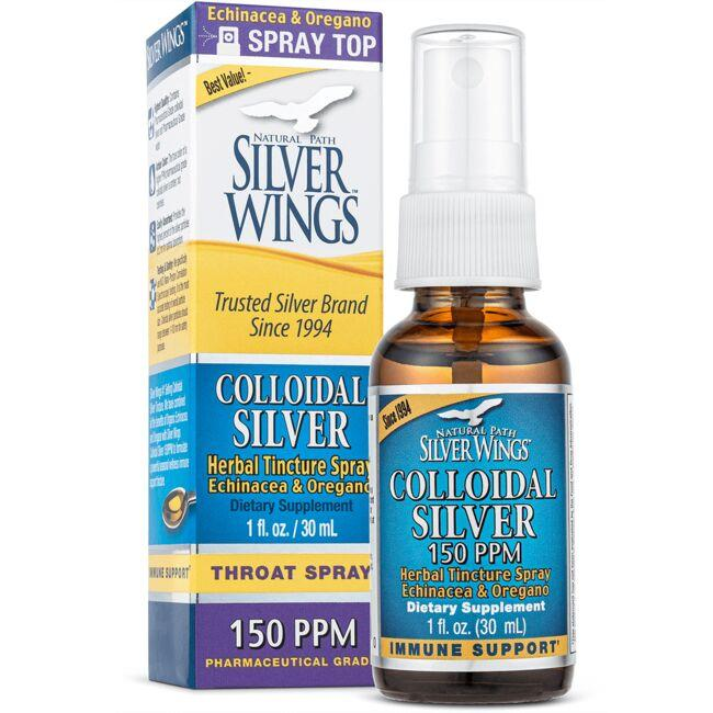 Natural Path Silver Wings Colloidal Silver Herbal Tincture Spray