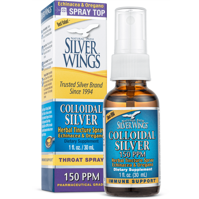 Natural Path Silver WingsColloidal Silver Herbal Tincture Spray