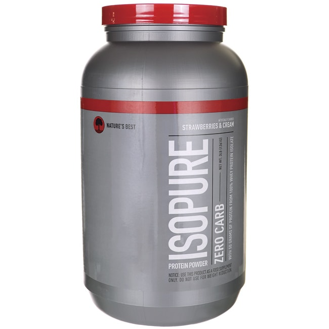 Nature's Best Isopure Zero Carb  - Strawberries and Cream