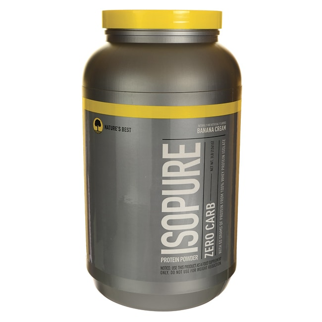 Nature's Best Isopure Zero Carb Protein Powder Banana Cream