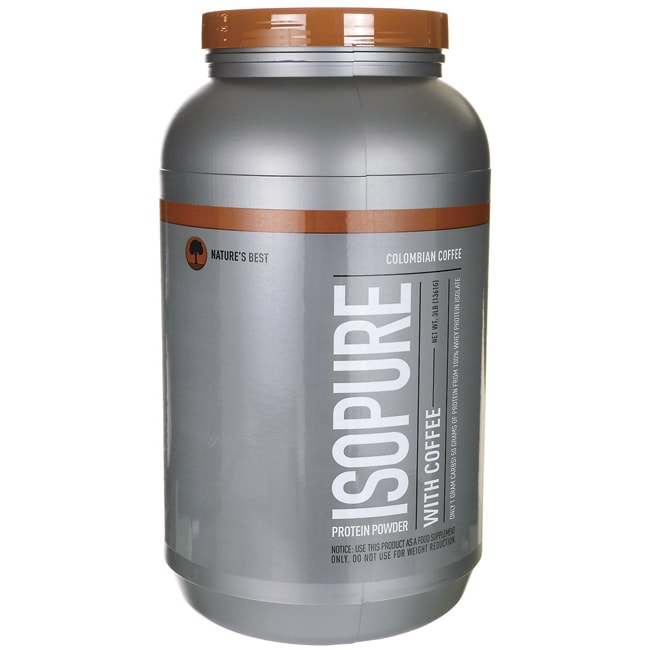 Nature's Best Isopure Protein Powder with Coffee - Colombian